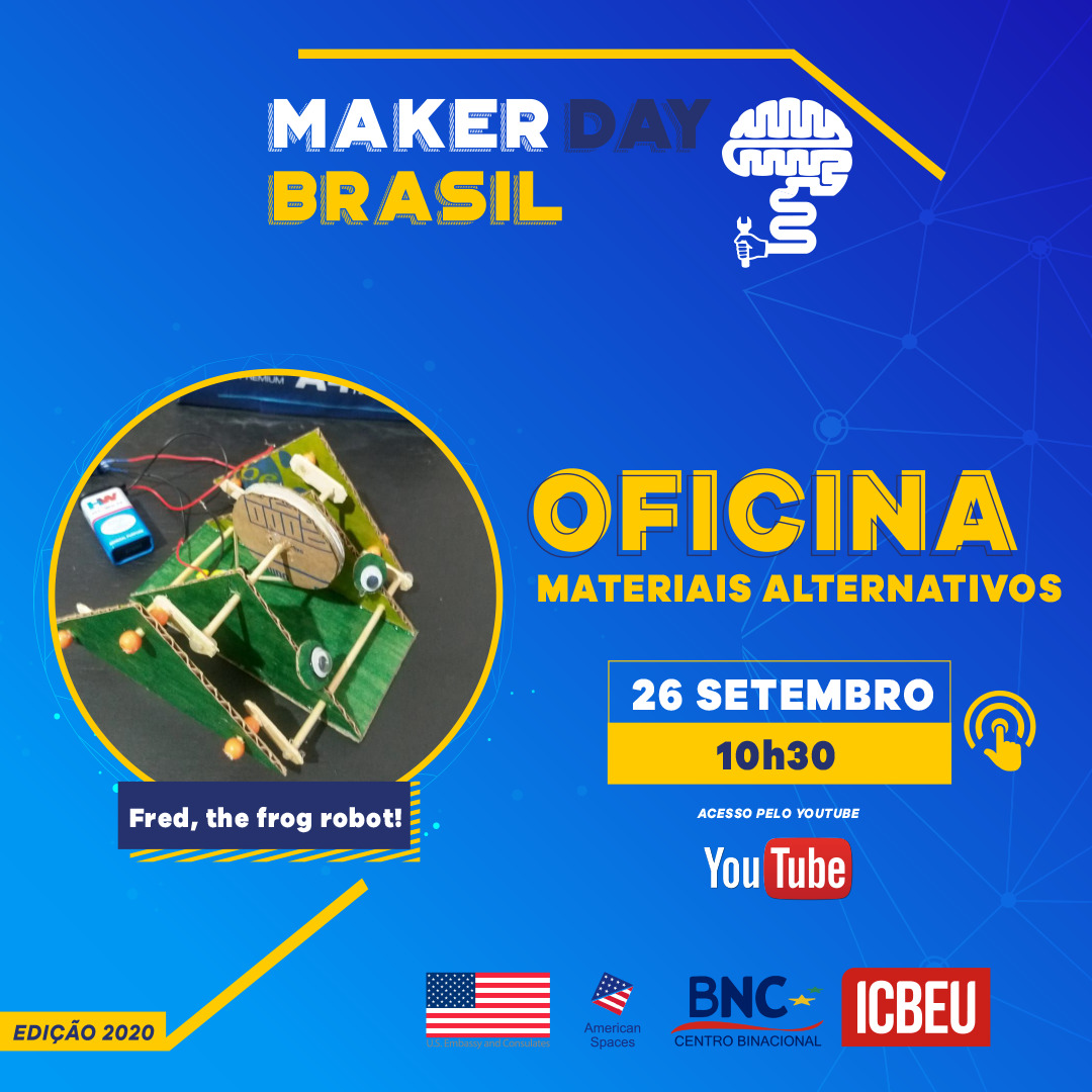 Oficina Fred, the frog robot! 10h - 11h
